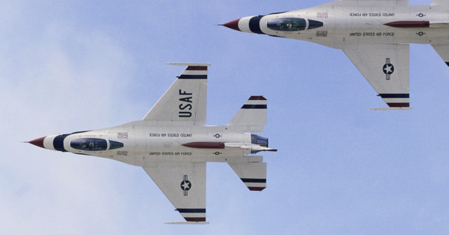 United States Air Force Demonstration Team Performing During Air Show