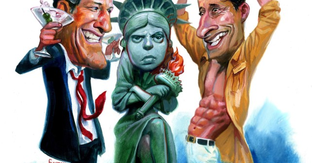 Business-leaders-aren't-laughing-about-Weiner-and-Spitzer