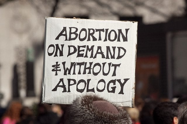 Abortion On Demand Sign, Planned Parenthood