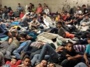 Illegal immigrant children at Brownsville border station