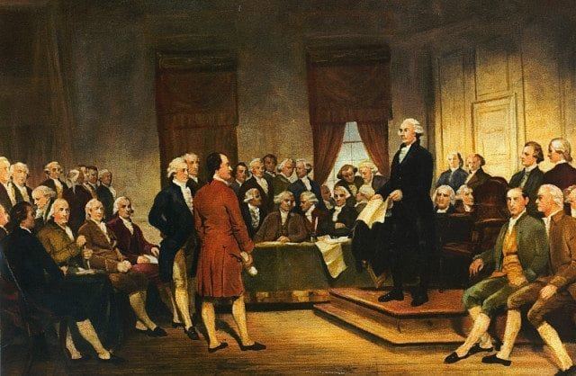 Washington Constitutional Convention 1787 Painting