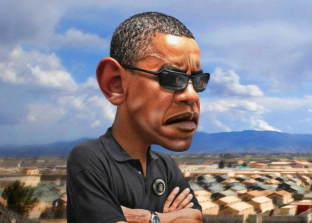 President Barack Obama, Caricature, Sunglasses