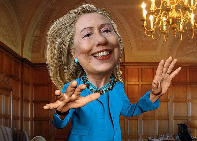 Hillary Clinton, Caricature