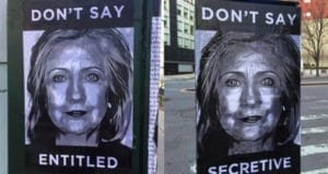 Hillary, Street Art, Entitled, Secretive