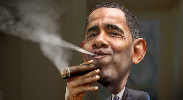President Barack Obama, Cuban cigar