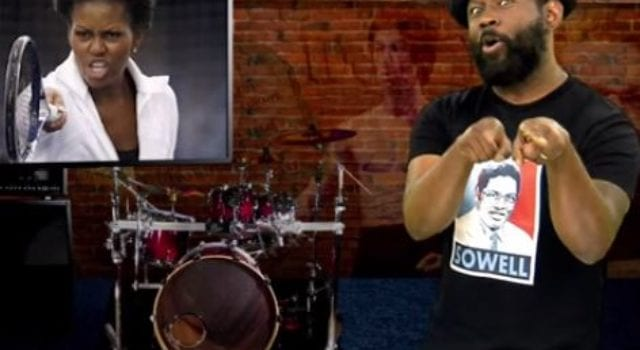ZoNation, Video Still, Alfonzo Rachel-, Michelle Obama, Tuskegee Speech