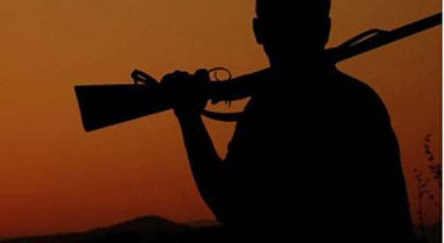 Gun, Sillouette, Sunrise, Sunset