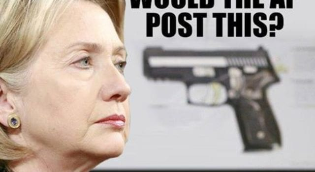 Hillary, Ted Cruz, AP Gun Photo