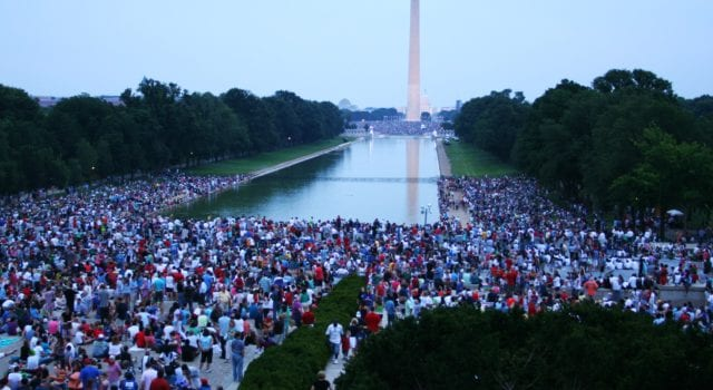 National Mall, Washington DC, rally, crowd