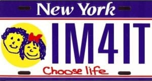 New York, Choose Life, Proposed license plate
