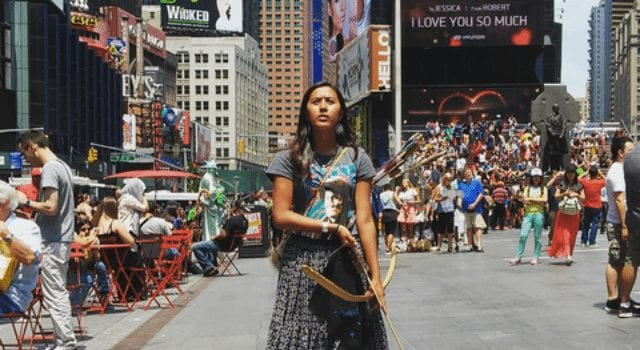 Apache Girl in Times Square
