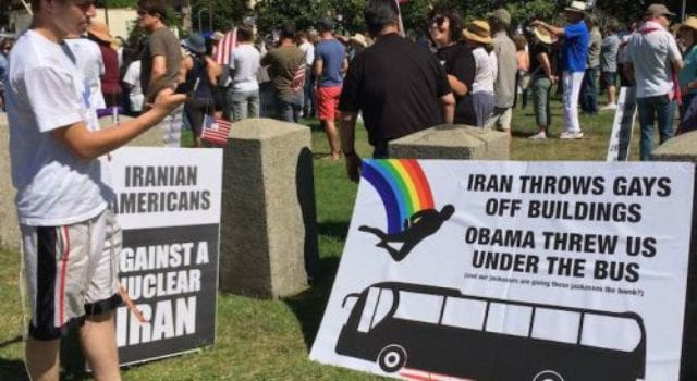 Stop Iran Rally LA, Gays from buildings, Obama