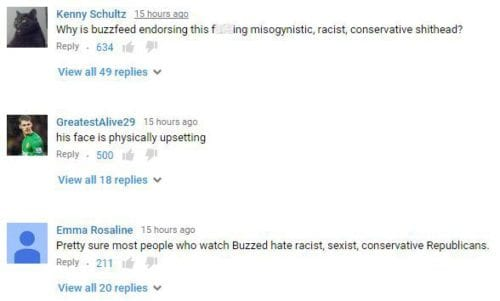 Ted Cruz, The Simpsons YouTube Comments