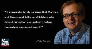 Todd Starnes, Quote re: disarming military