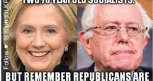 Hillary Clinton, Bernie Sanders, Democrat, Party Of Old White People