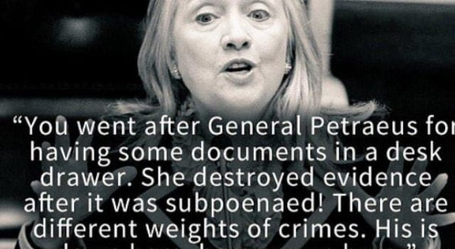 Hillary Clinton, Criminal, General Petraeus