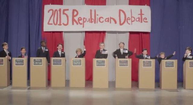 Little Republicans, 2015 GOP Debate, Video Still