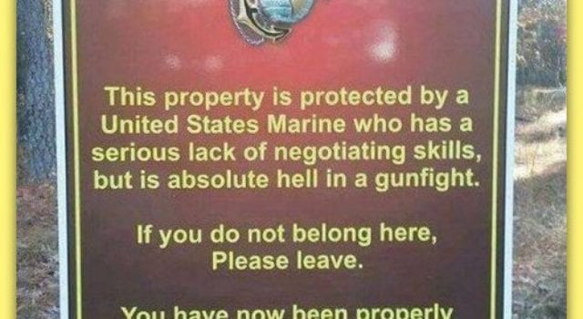 Marine Property Sign