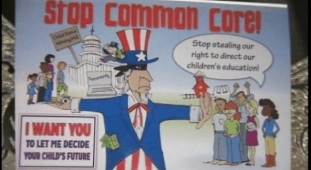 Stop Common Core, Protest Sign