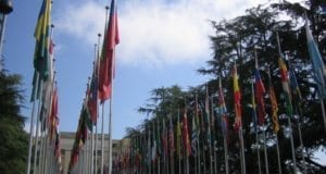 United Nations, Geneve, Flags