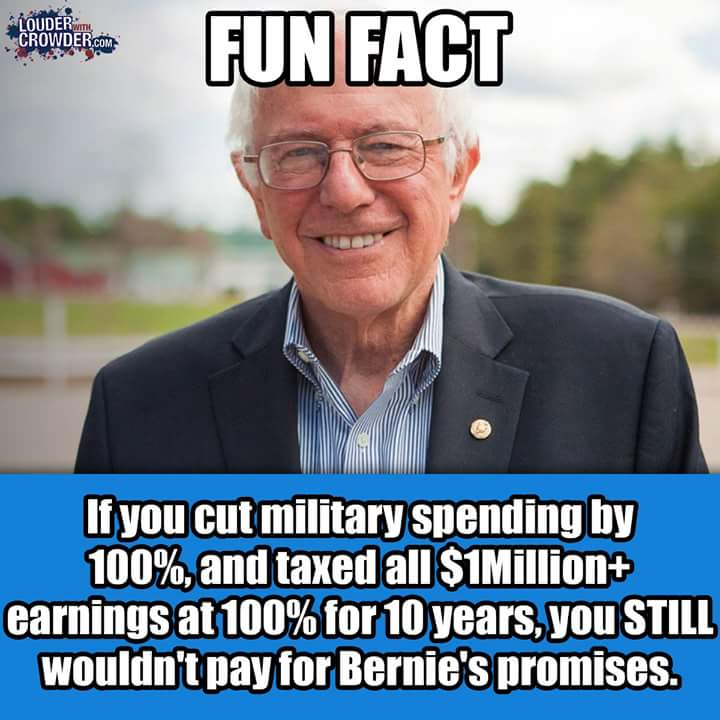FUN FACT: Paying for Bernie Sanders' promises - The Real ...