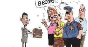 Cartoon, IStandWithAhmed, Muslim, Bomb, Clock
