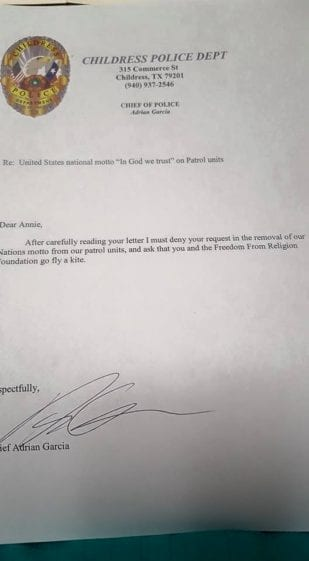 Childress-PD-letter