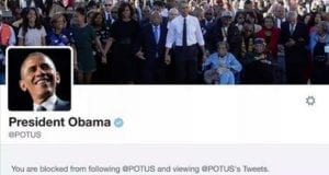 POTUS Blocked Twitter Feed