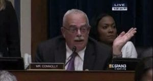 Rep Gerald Connolly, GA, Dem, CSPAN, video still