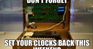 Set Your Clocks Back This Weekend, meme