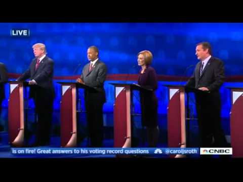 GOP debate, video still