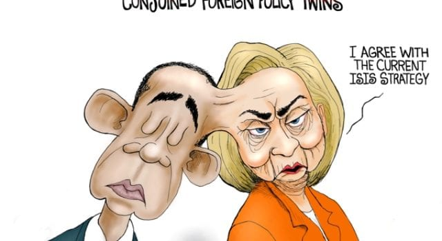 Conjoined Foreign Policy Twins, Obama, Hillary