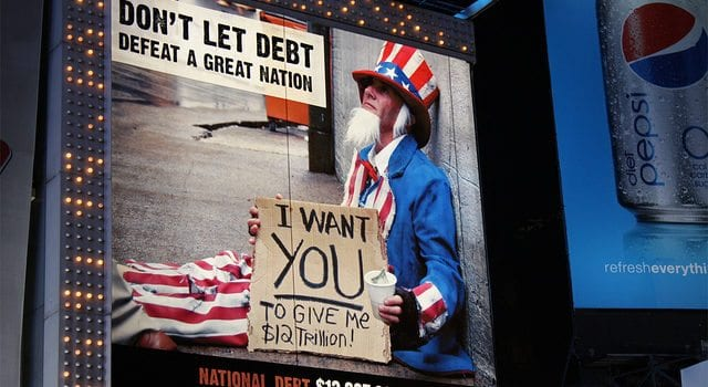 Government Debt, Trillions, Uncle Sam