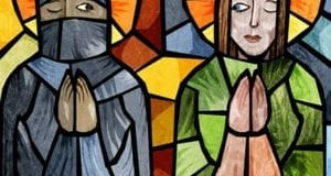 Christian, Muslim, Women, Stained Glass