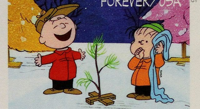 Charlie Brown Christmas Stamp with Linus
