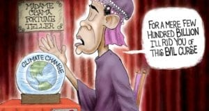 Climate Change Hoax, Obama, Cartoon