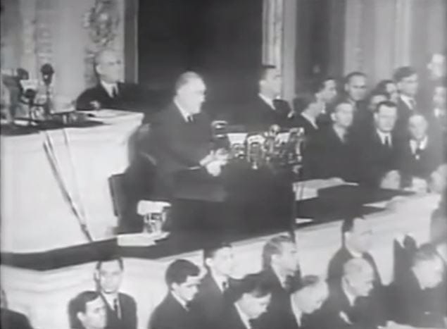 FDR, State Of The Union, US Archives
