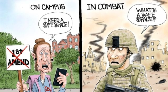 Millenials, Safe Space, Campus, Combat