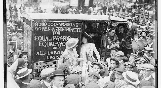 Women Vote, Suffragettes