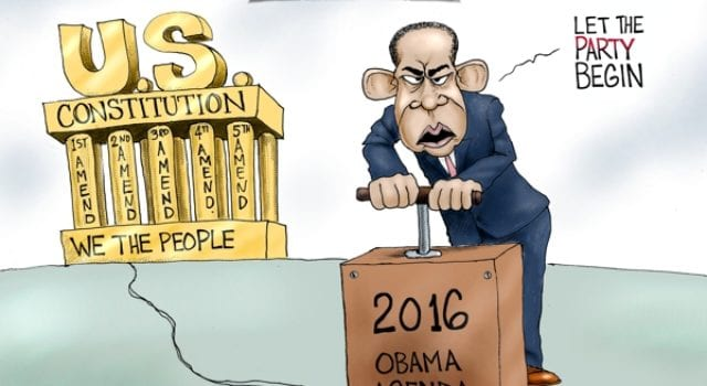 Happy New Year 2016, Obama, Agenda, Constitution