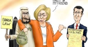 Hillary Clinton, Ted Cruz, Muslim, Sharia Law, Campaign Donations, Constitution