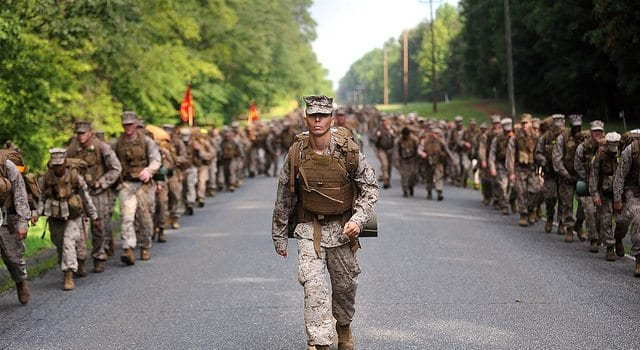 Marine, Basic School, March