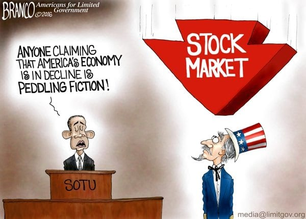 obama crash stock market effect on economy