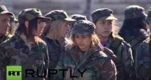Female Syrian Army, video still