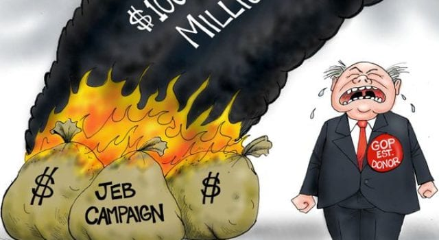 GOP Establishment Money, Jeb Bush Campaign, Up In Smoke