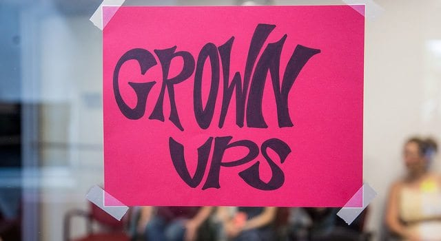 Grown Ups Sign