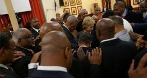 Hillary Clinton, prayer from black pastors