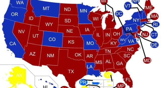 US Governors Map