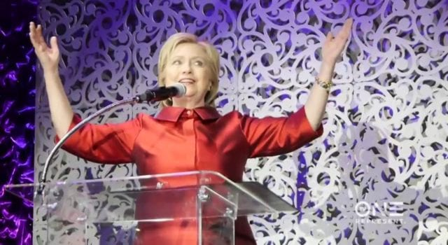 Hillary Clinton, Stellar Gospel Music Awards 2016, video still