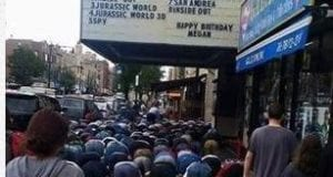 Muslim, Islam, Prayer, NY, Brooklyn, Alpine Theatre